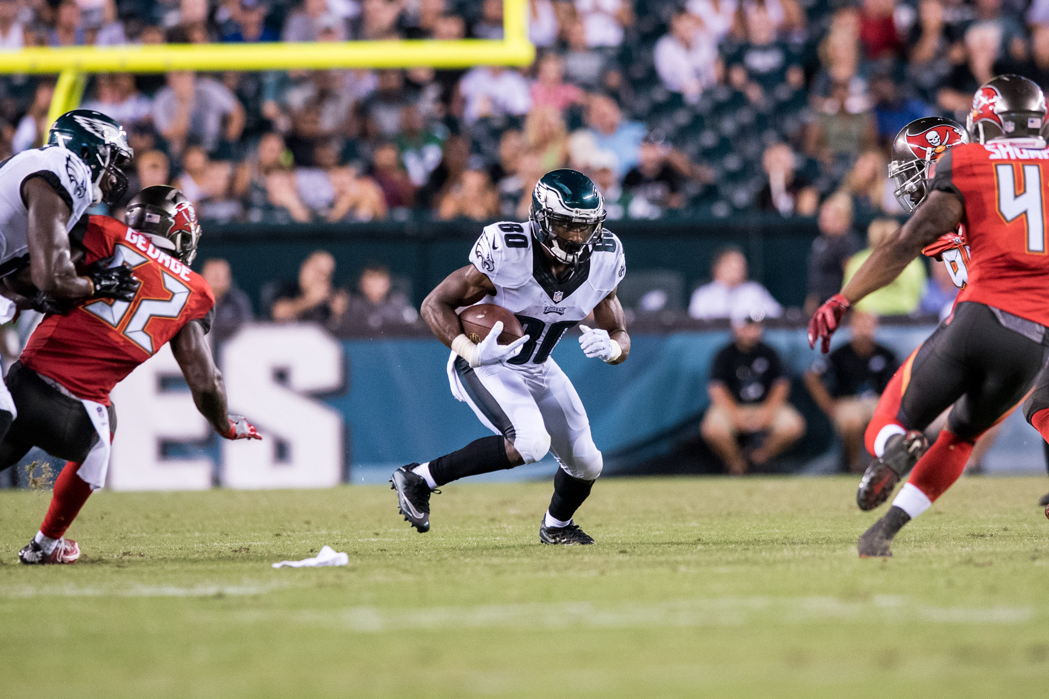 Philadelphia Eagles wide receiver Paul Turner sees an opening in the fourth-quarter against the Tampa Bay Buccaneers in a preseason game on Thursday, Aug.11, 2016 at the Lincoln Financial Field in Philadelphia. (Michael Ares / Philadelphia Inquirer)