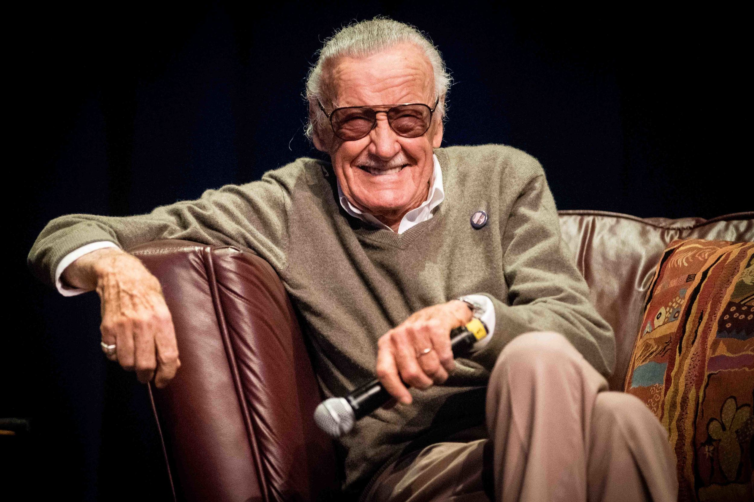 Marvel legend Stan Lee speaks to California State University, Long Beach students during the Associated Students, Inc. event An Evening with Stan Lee on Monday, Nov. 16, 2015 at the Carpenter Performing Arts Center in Long Beach, Calif. (Michael Ares/ Daily 49er)