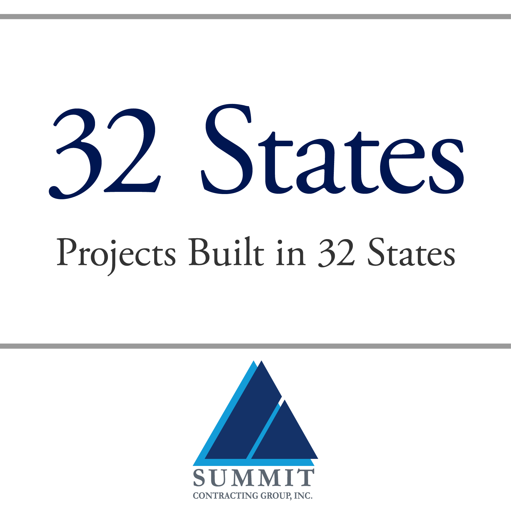 Projects Built in 32 States