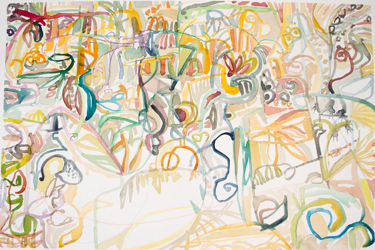 SAFARI Mixed Media on Paper 22 x 30 inches (56 x 75 cm)