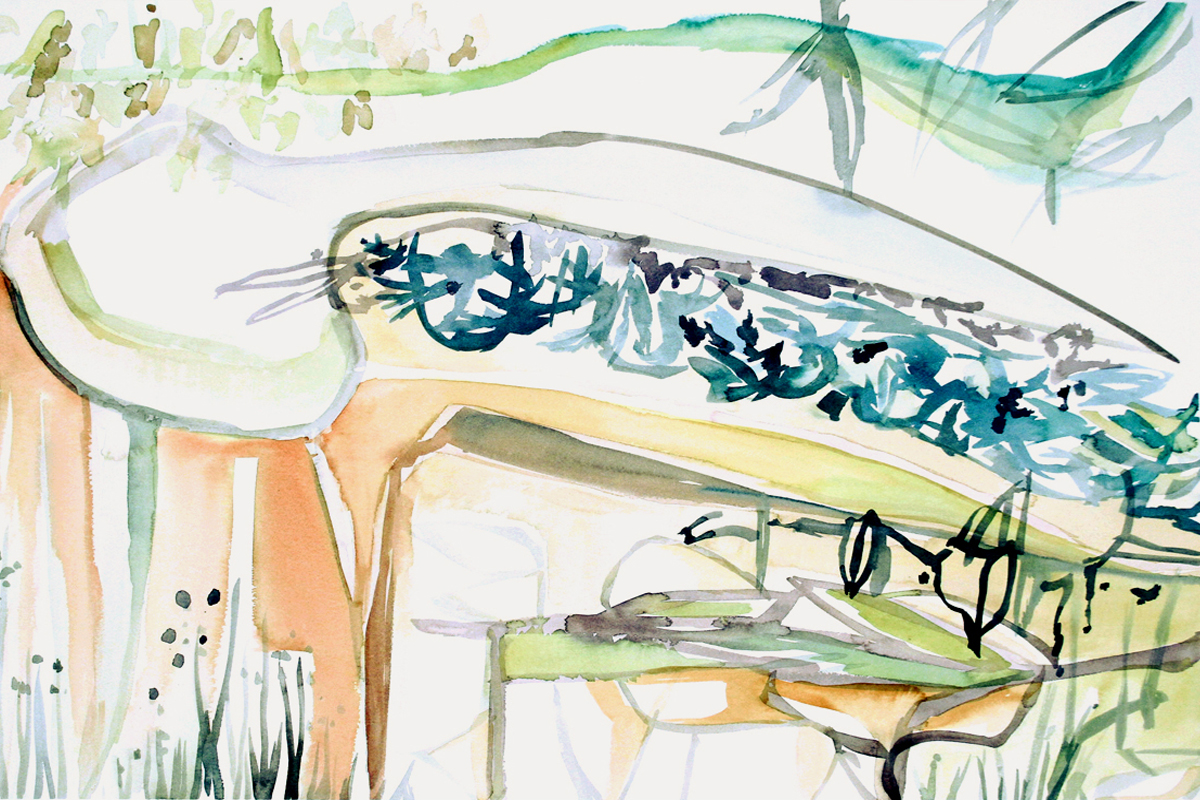 WATER LILY  Watercolor on Paper 22 x 30 inches (56 x 76 cm)