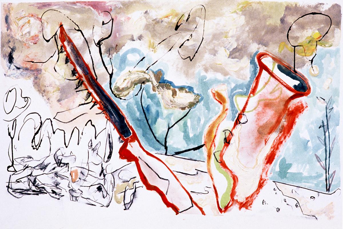 SAFFRON Mixed Media on Paper 26 x 40 inches (66 x 101 cm)