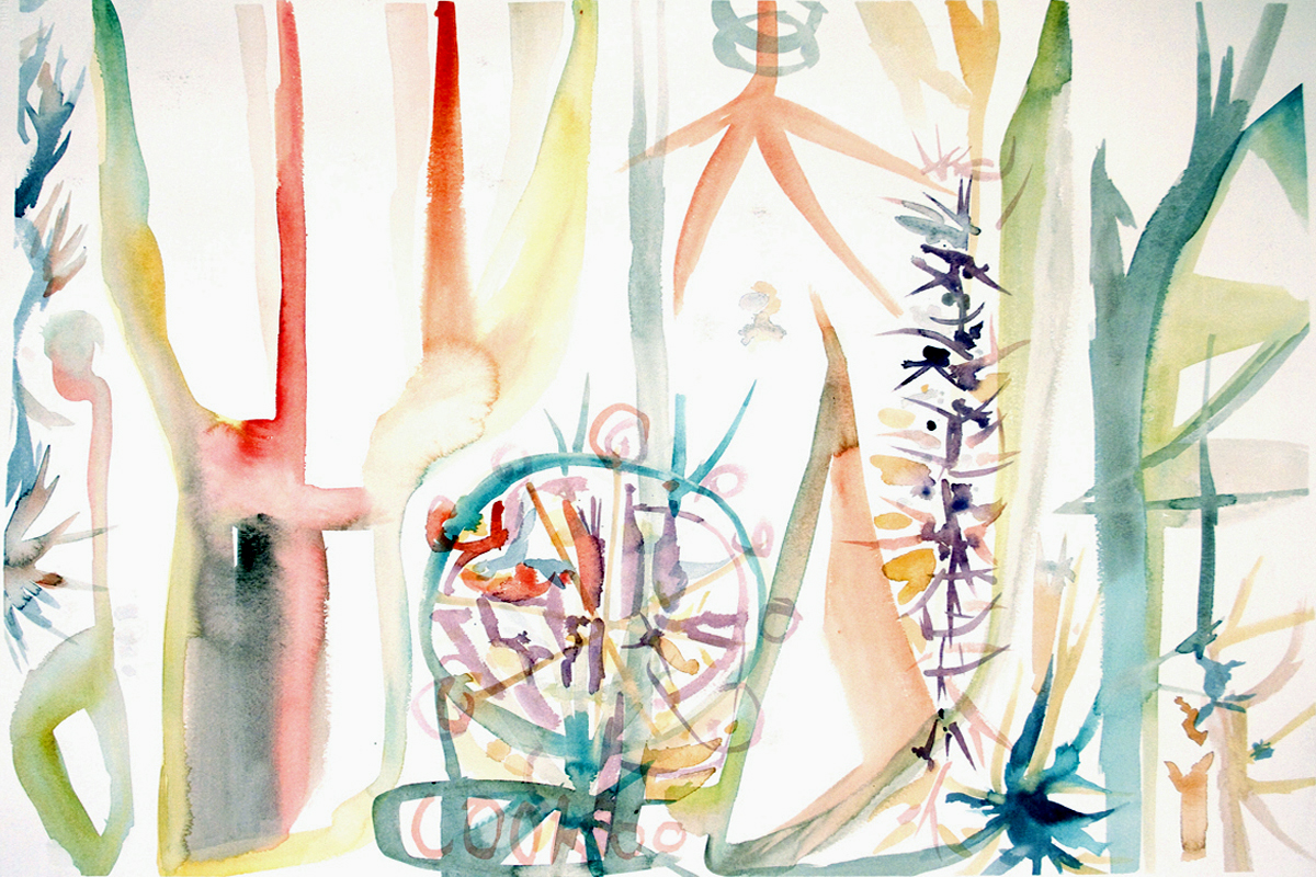 CACTUS  Watercolor on Paper 22 x 30 inches (56 x 76 cm)