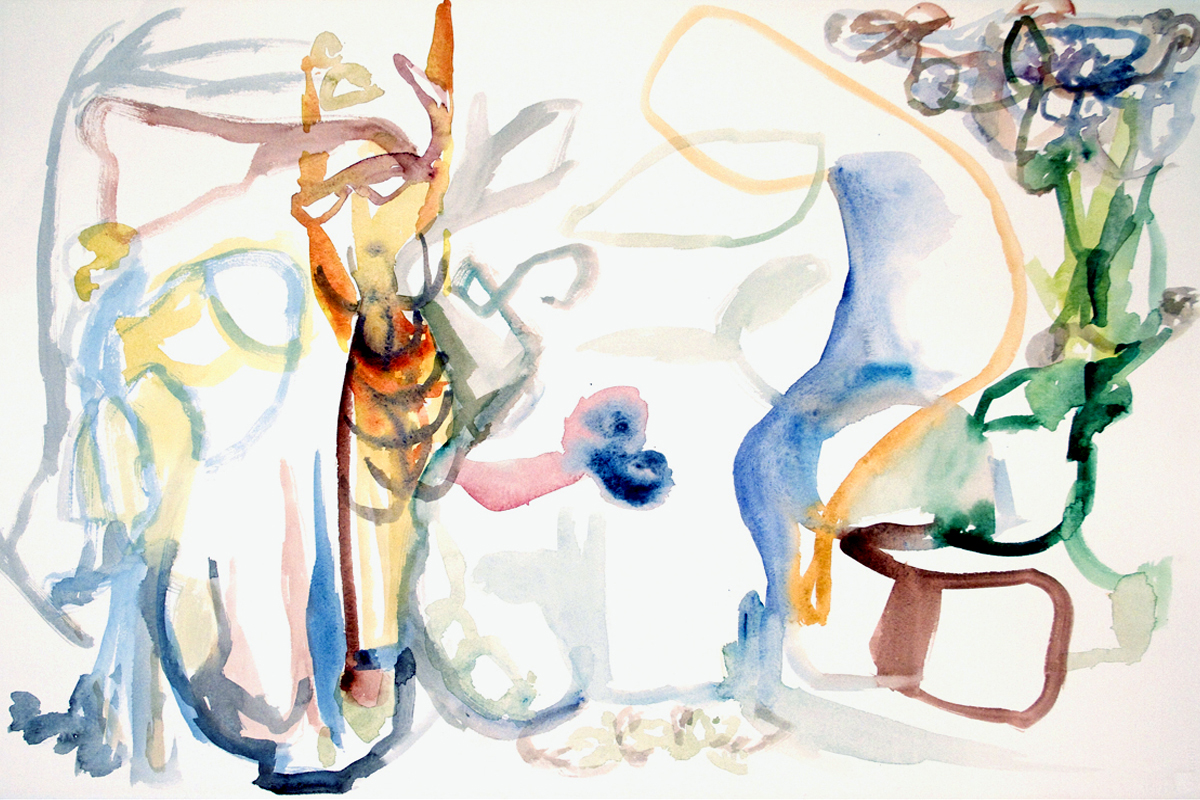 FRUITION  Watercolor on Paper 22 x 30 inches (56 x 76 cm)