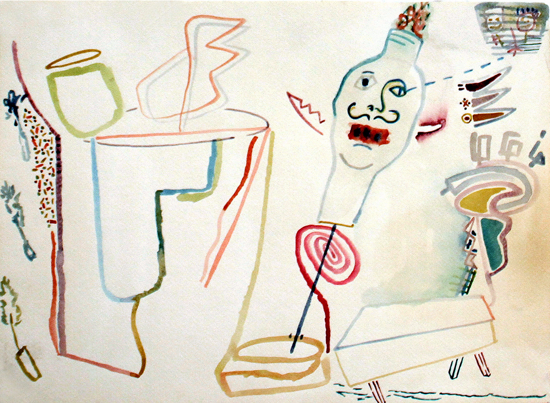 HE NEVER GOT OUT  Watercolor on Paper 15 x 20 inches (38 x 51 cm)