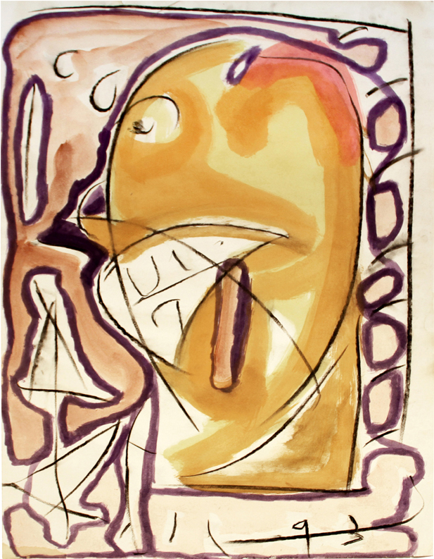 BOSS Mixed Media on Paper 38 x 25 inches (97 x 64 cm)