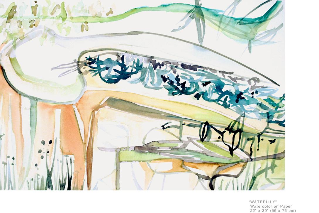 WaterLily_WatercolorOnPaper_22x30_JoeGinsberg_NewYorkContemporaryArtists_001.jpg