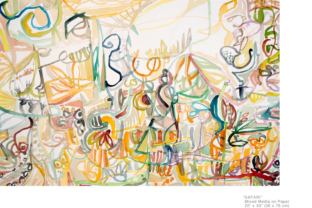 Safari_MixedMedia_ArtOnPaper_22x30inches_JoeGinsberg_ArtistsInNYC_001.jpg