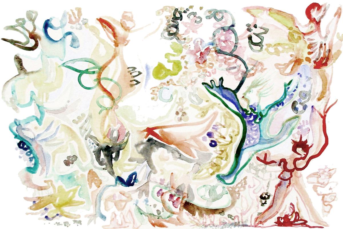 MILA'S RUN Watercolor on Paper 20 x 30 inches (74 x 76 cm)