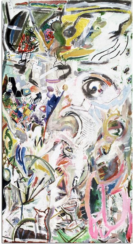 CROKAMORA  Mixed Media on Canvas 112 x 58 inches (284 x 147 cm)