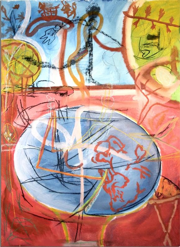 THIRD EYE  Mixed Media on Canvas 98 x 87 inches (249 x 221 cm)
