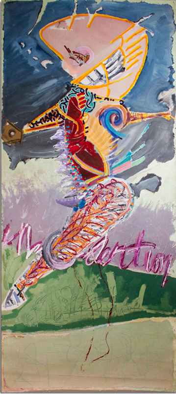 THUMPER  Mixed Media on Canvas 108 x 48 inches (274 x 122 cm)