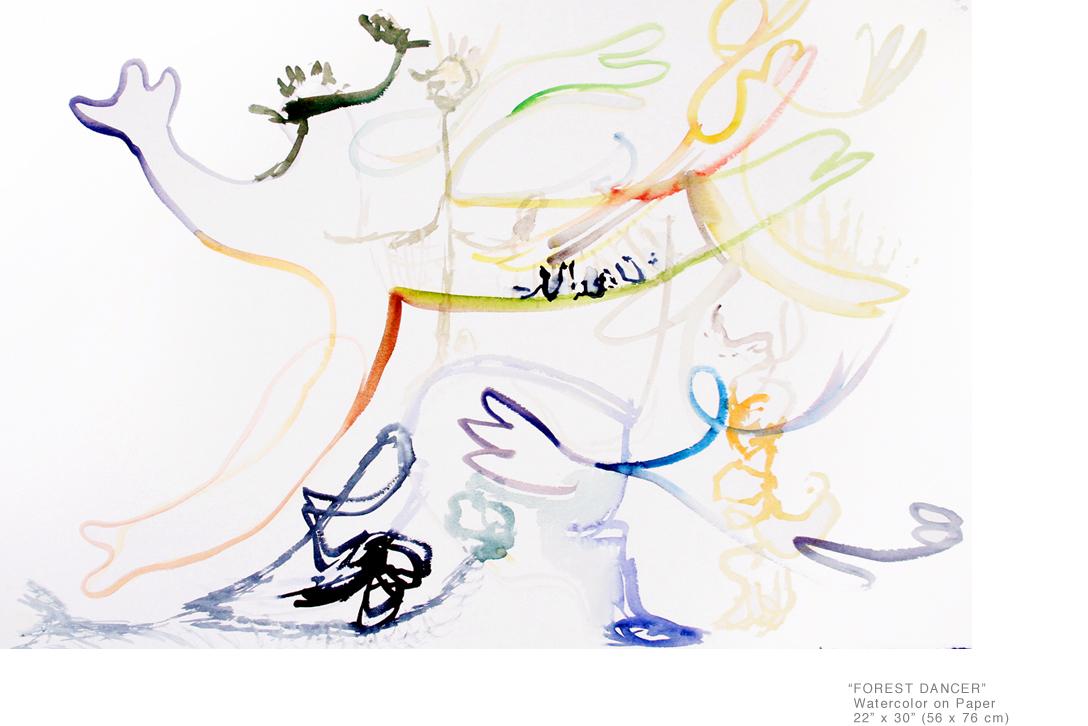 ForestDancer_WatercolorOnPaper_22x30inches_JoeGinsberg_ContemporaryArtNY_001.jpg