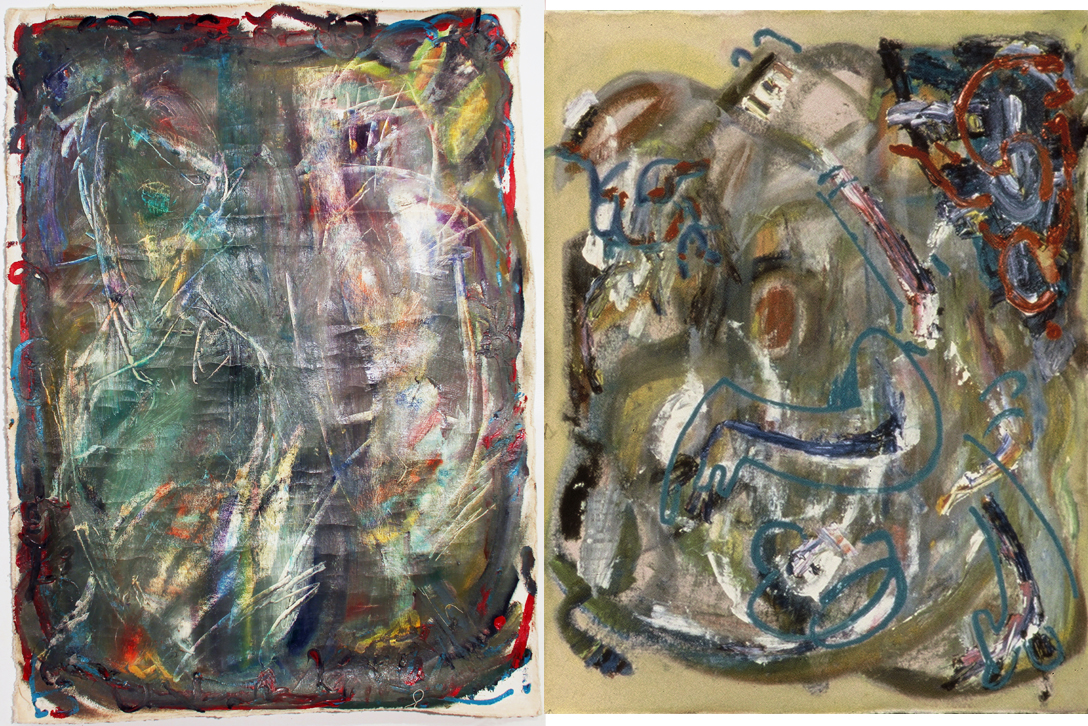 GHOST I & II  Mixed Media on Canvas 36 x 57 inches (91 x 145 cm)