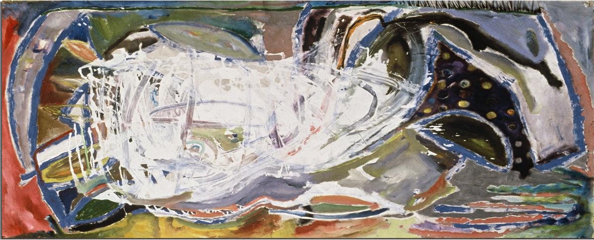 SHUTTLE LIBERTE  Oil on Canvas 45 x 91 inches (114 x 231 cm)