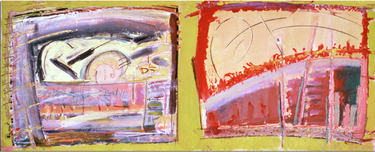 SUN DAY  Mixed Media on Canvas 45 x 91 inches (114 x 231 cm)