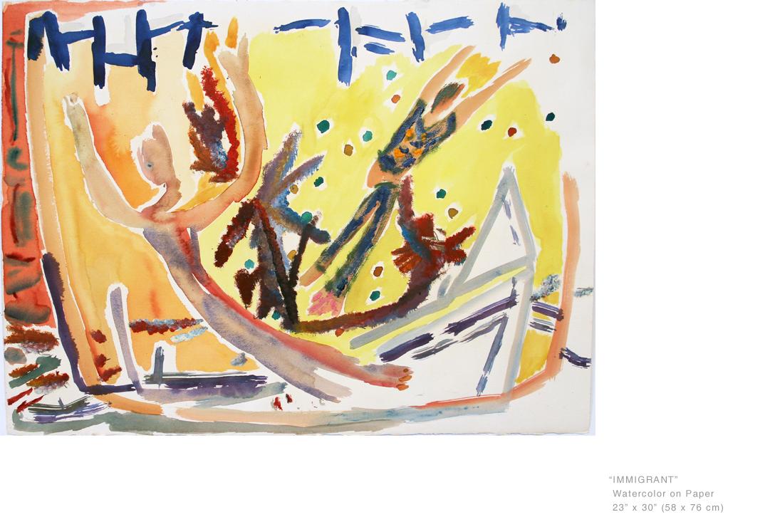 ImmigrantWatercolorOnPaper23 x 30 inches - Joe Ginsberg_ArtModern.jpg