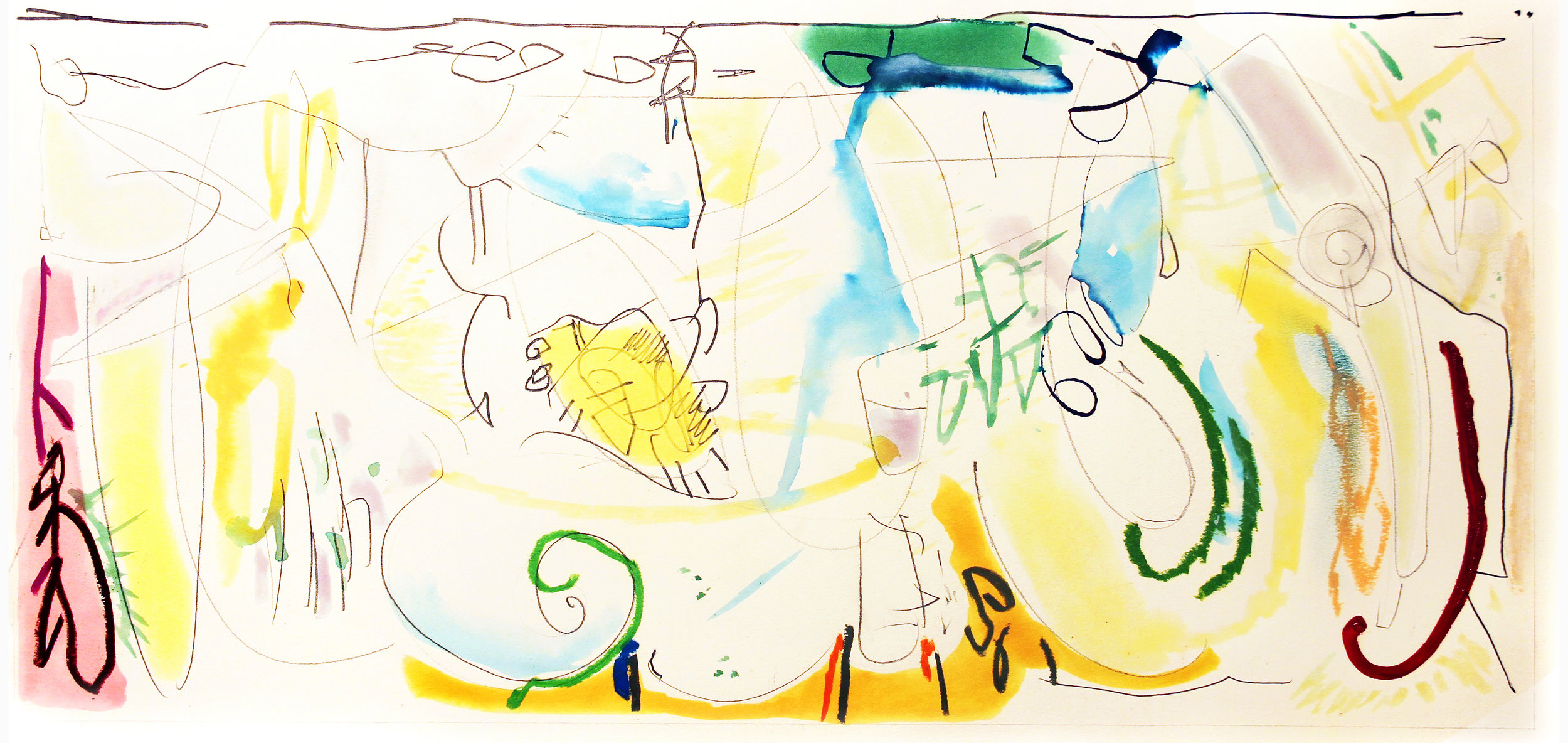 RAPTURE  Mixed Media on Paper 30 x 43 inches (76 x 109 cm)
