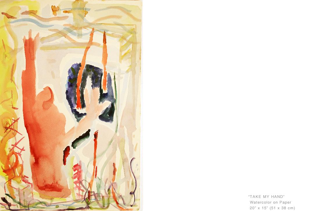 TakeMyHandWatercolorOnPaper20x15inches-ArtistNewYorkCityJoeGinsberg.jpg