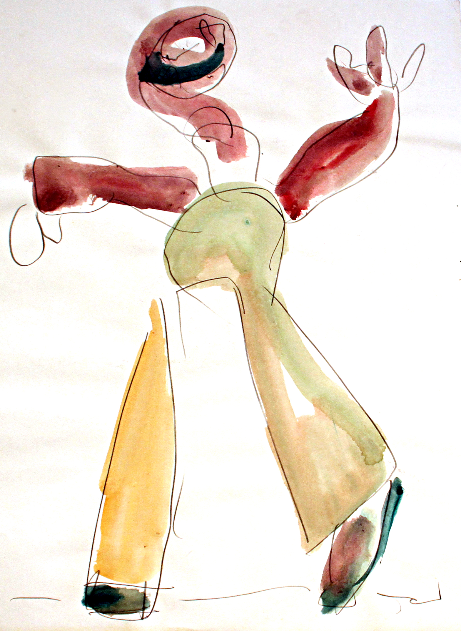 CANDY MAN  Mixed Media on Paper 24 x 18 inches (61 x 46 cm)