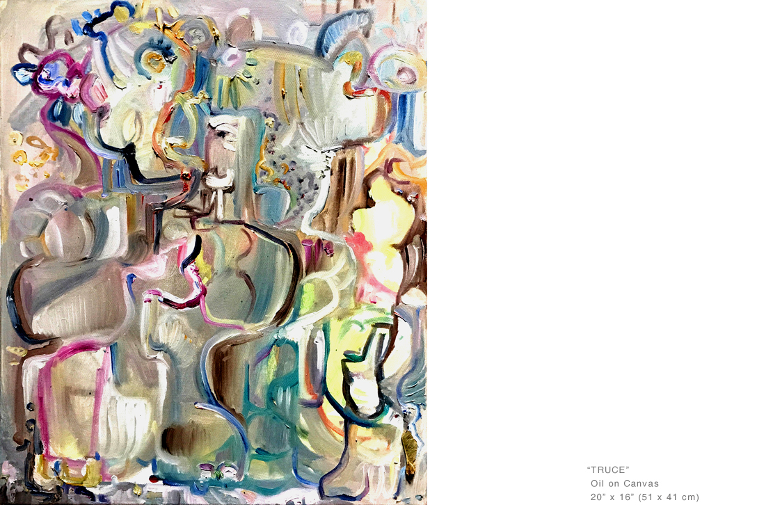 Strong usage of line and color distinguish Joe Ginsberg's work from amongst other New York artists and position him as a leading member of the new artistic movement.