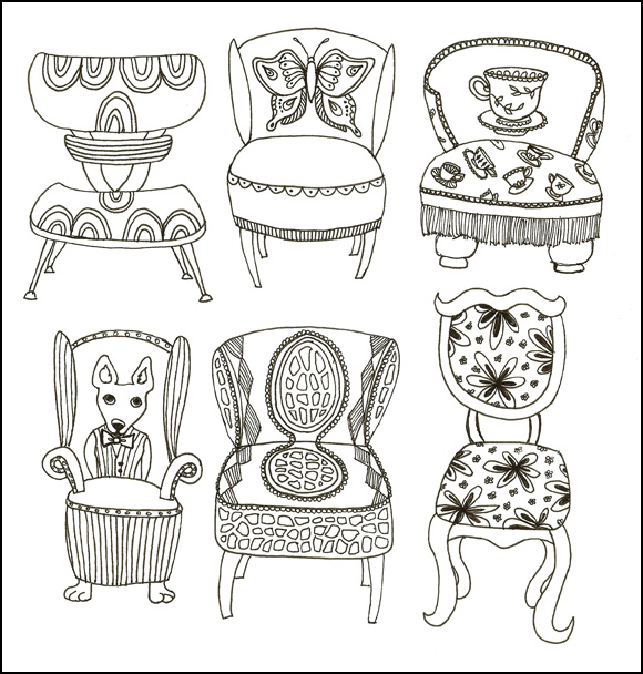 line art chairs