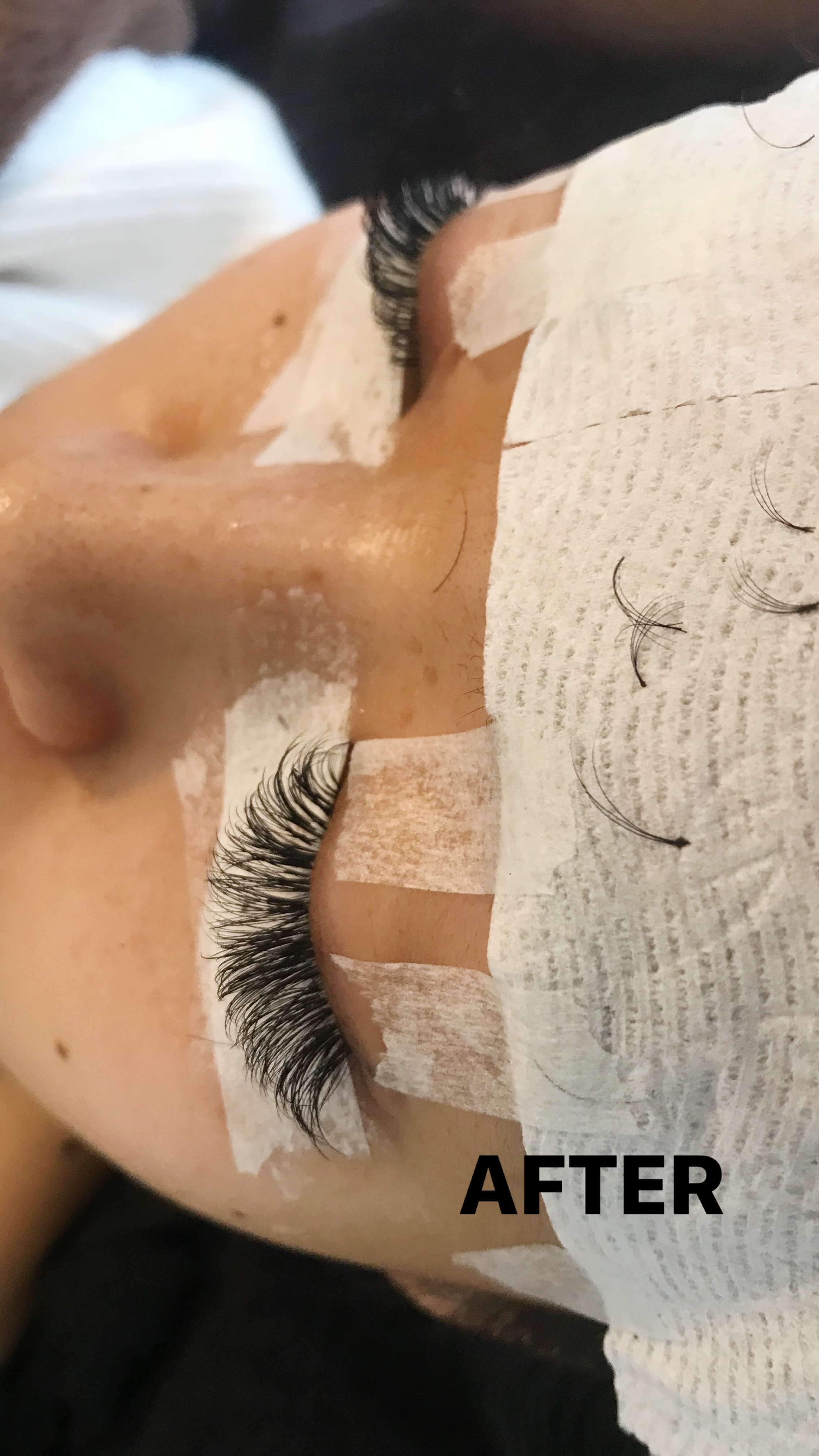 b351f14c919 Q: How long does it take? A: One hour and all my friends and I call it nap  time! So relaxing and I usually end up falling asleep. Q: Do eyelash  extensions ...