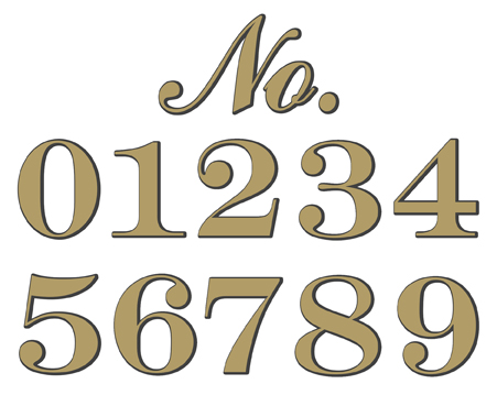 Historic Houseparts Adhesive House Numbers