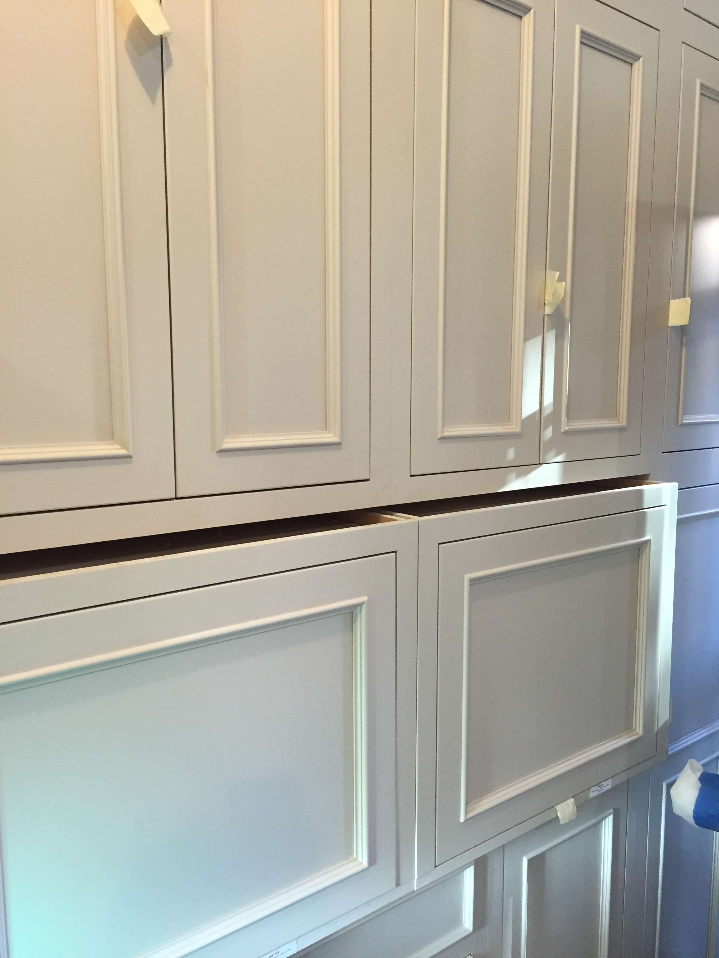 Kitchen appliance cabinet wall