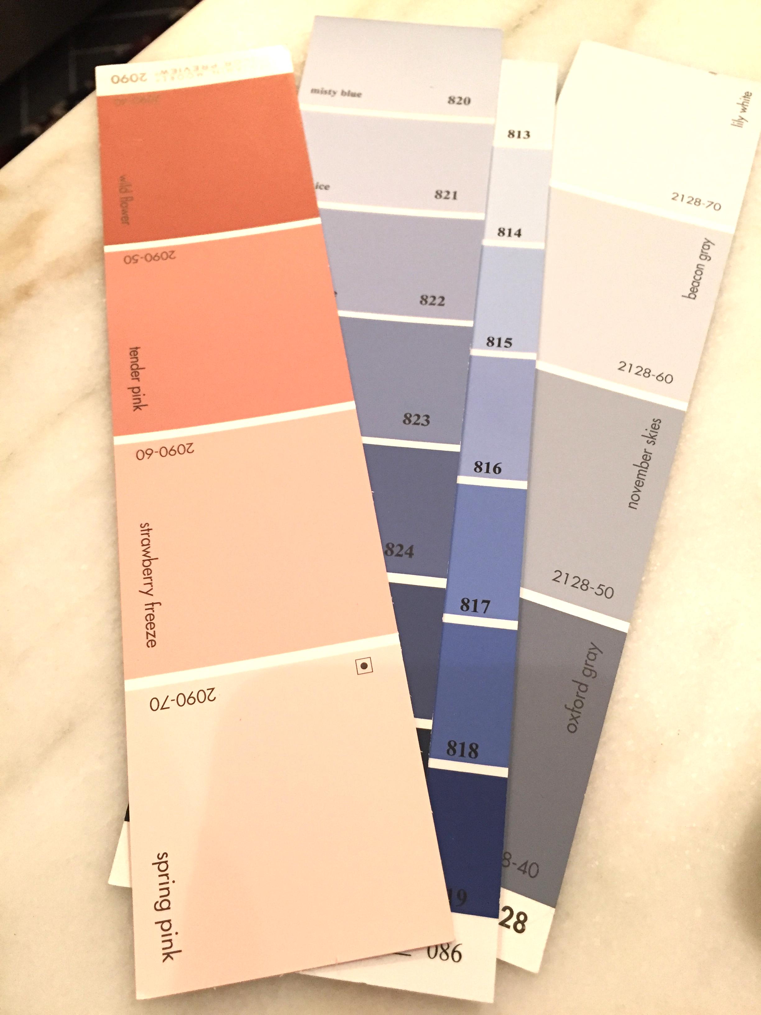 Benjamin Moore color card