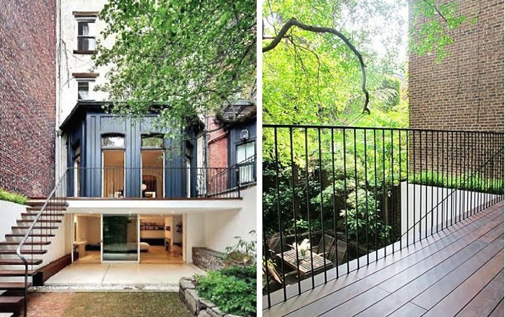 Love that the garden level steps right out to the patio. Source:  Gardenista
