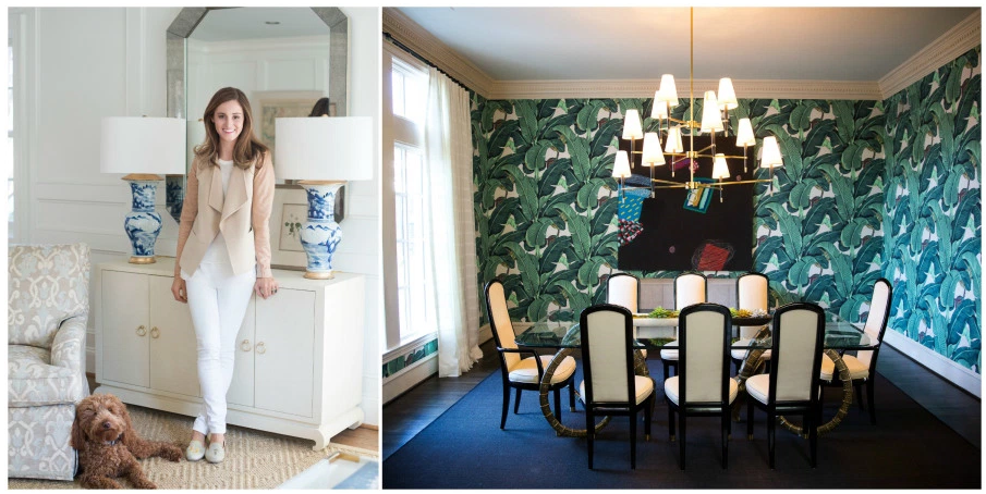 Credit:  Design by Amy Berry, via Viyet . This room also features the famous Martinique wallpaper found in the Beverly Hills Hotel, a print that everyone in the blog world is currently cray-cray for.