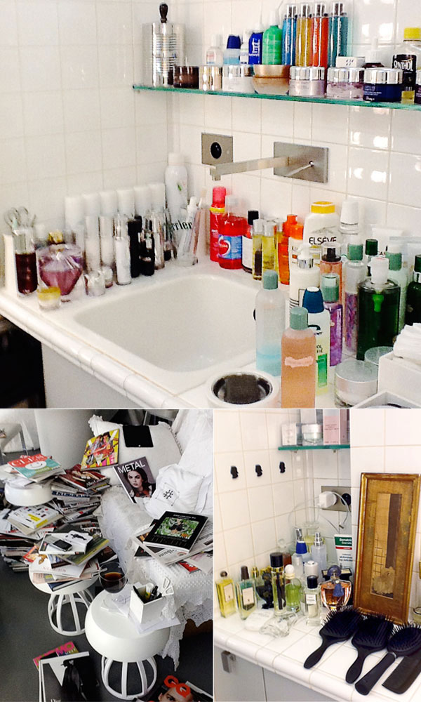 Karl Lagerfeld's bathroom. I'm not sure we could be friends.  Source: Harper's Bazaar via  Guest of a Guest