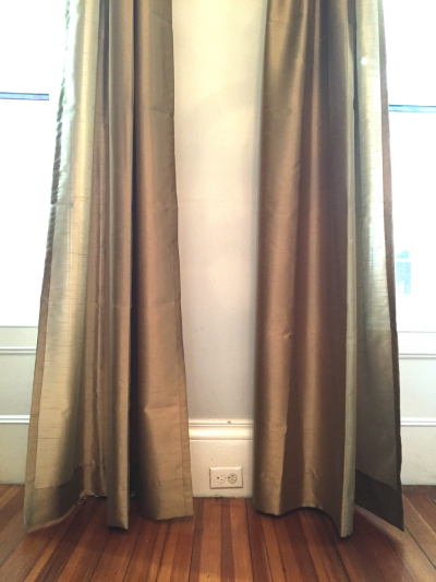The curtains before their training regimen.