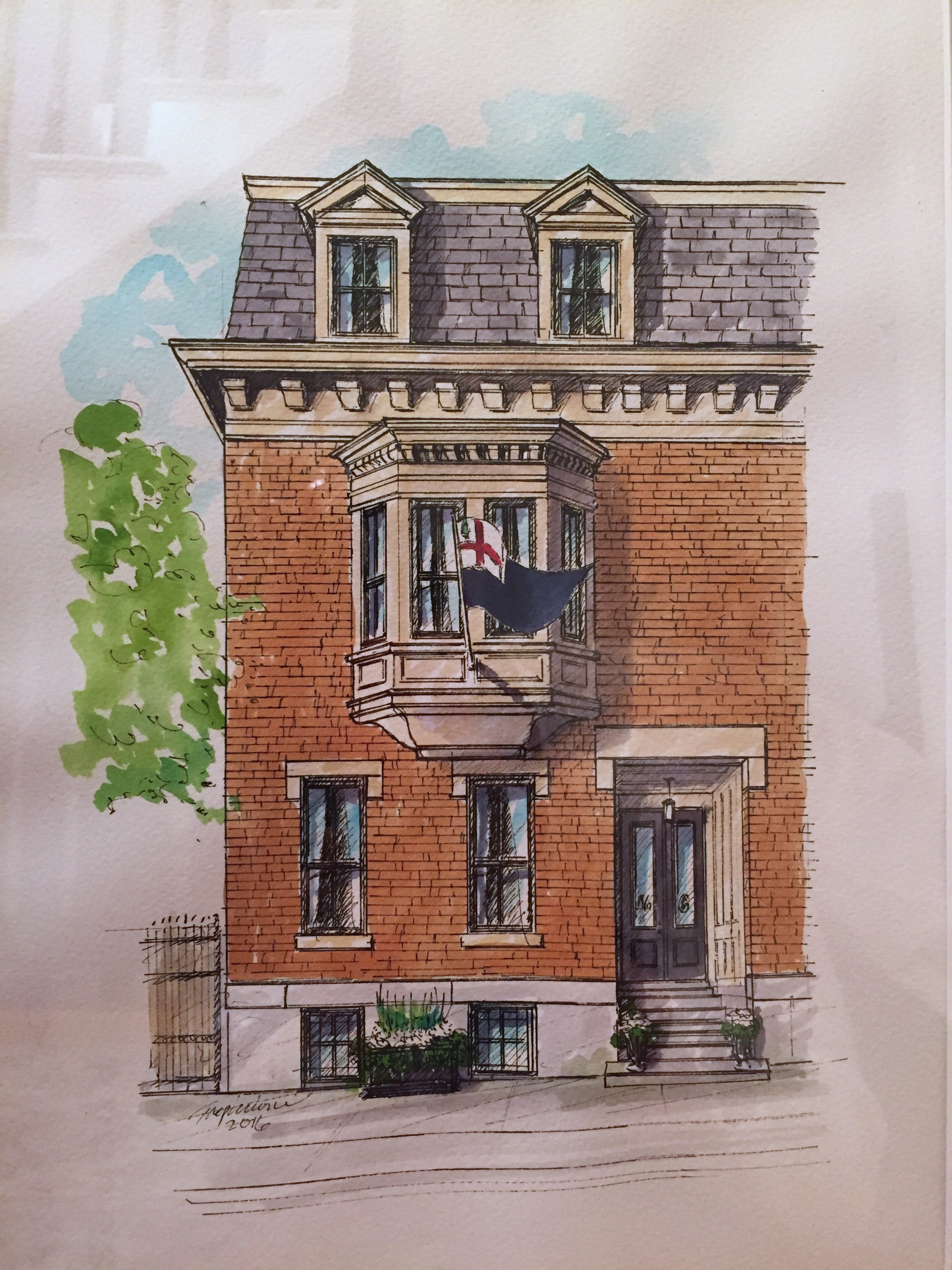 Our gift for participating: A watercolor of our home.