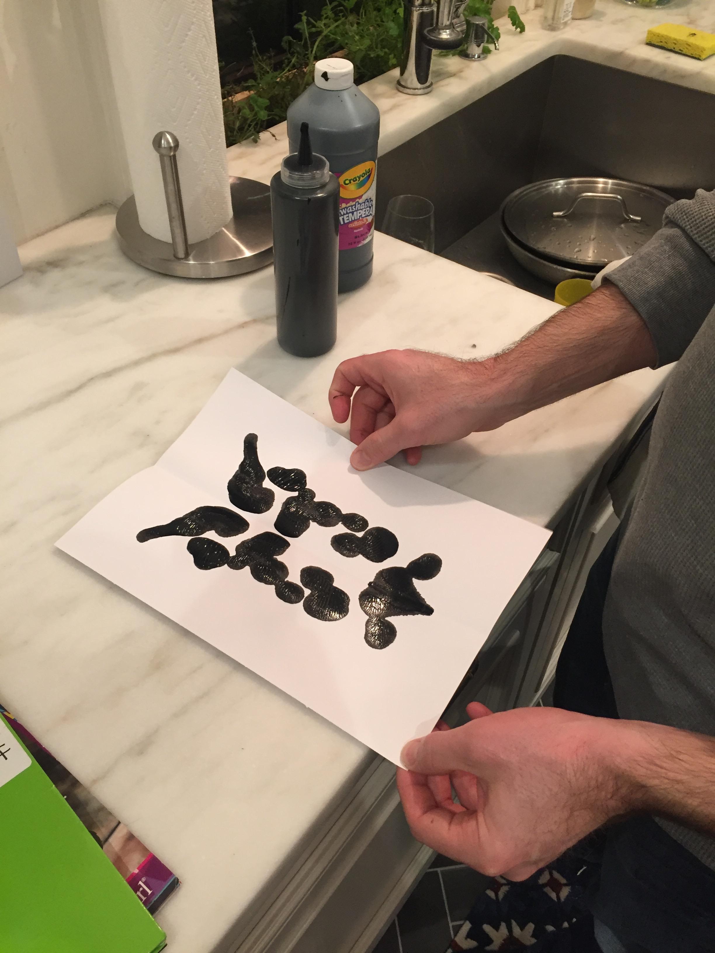 DIY inkblots