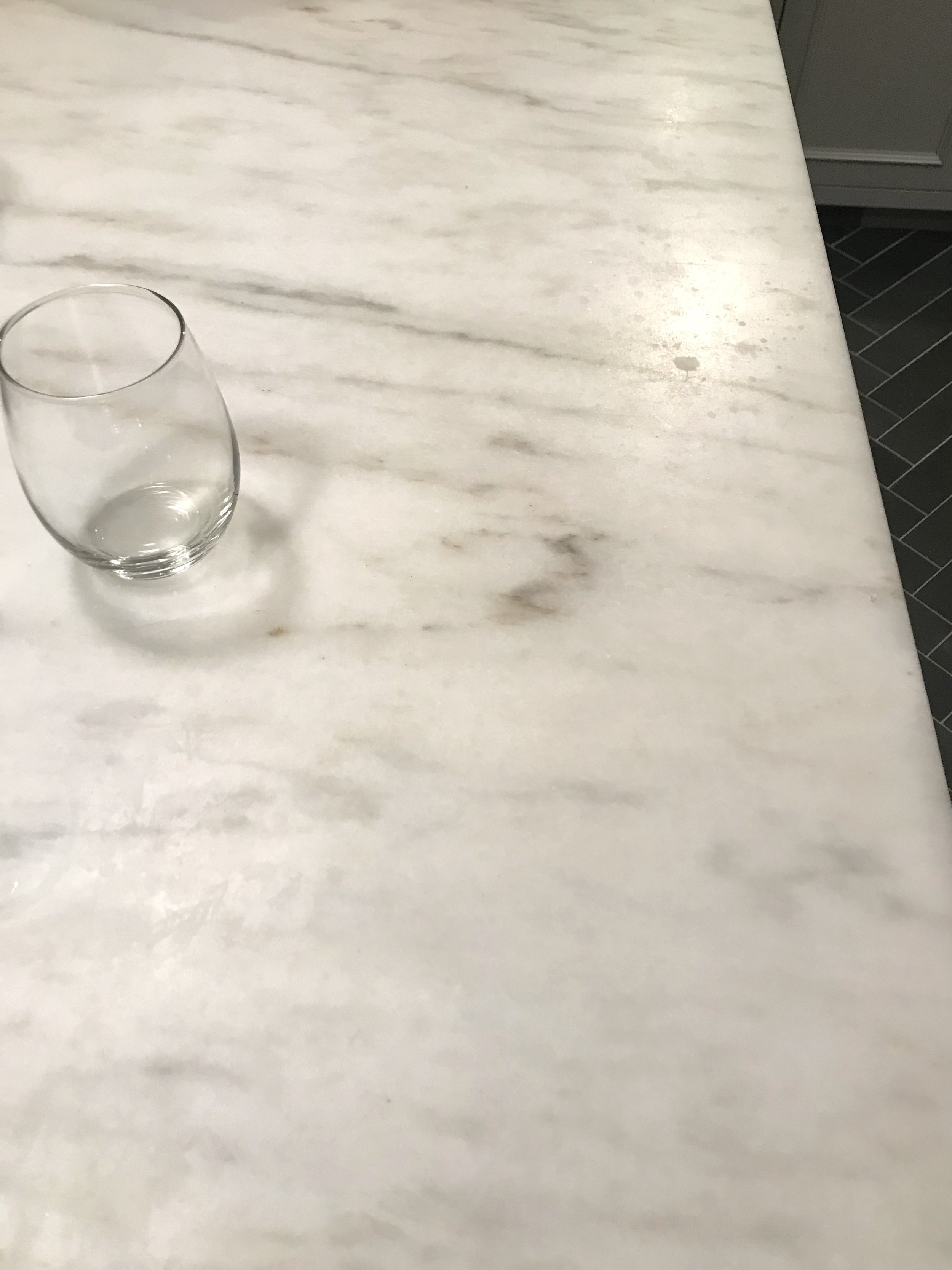 Honed Marble Countertops Three Years Later Self Styled