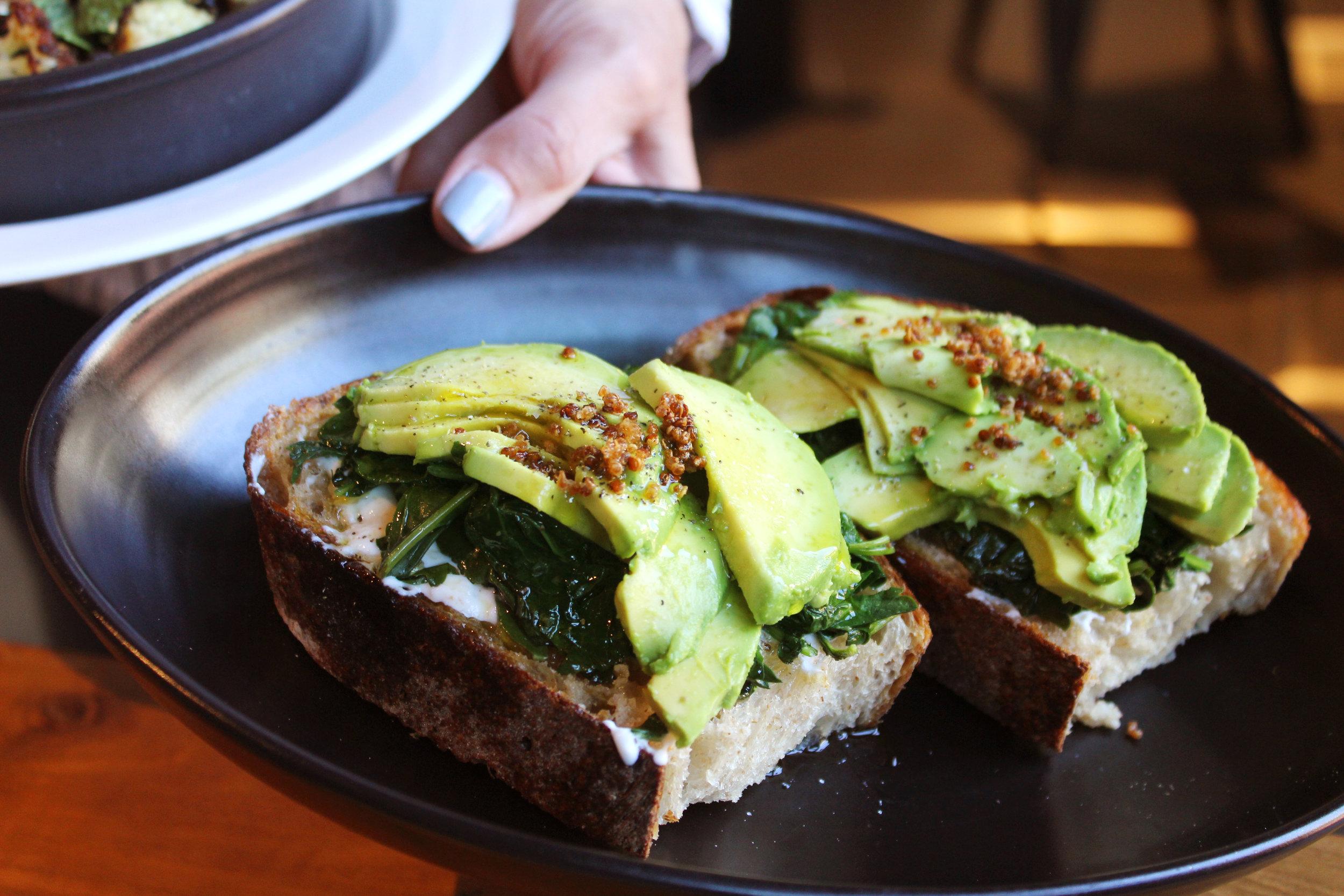 avocado kale bruschetta