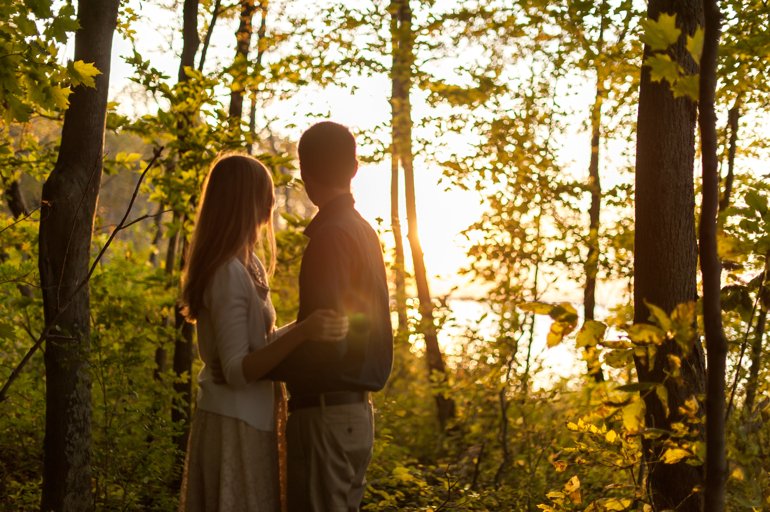 Sunset Engagement Session Kiss - Rochester Photographer Wendy Zook