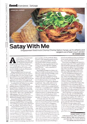 OC WEEKLY ARTICLE