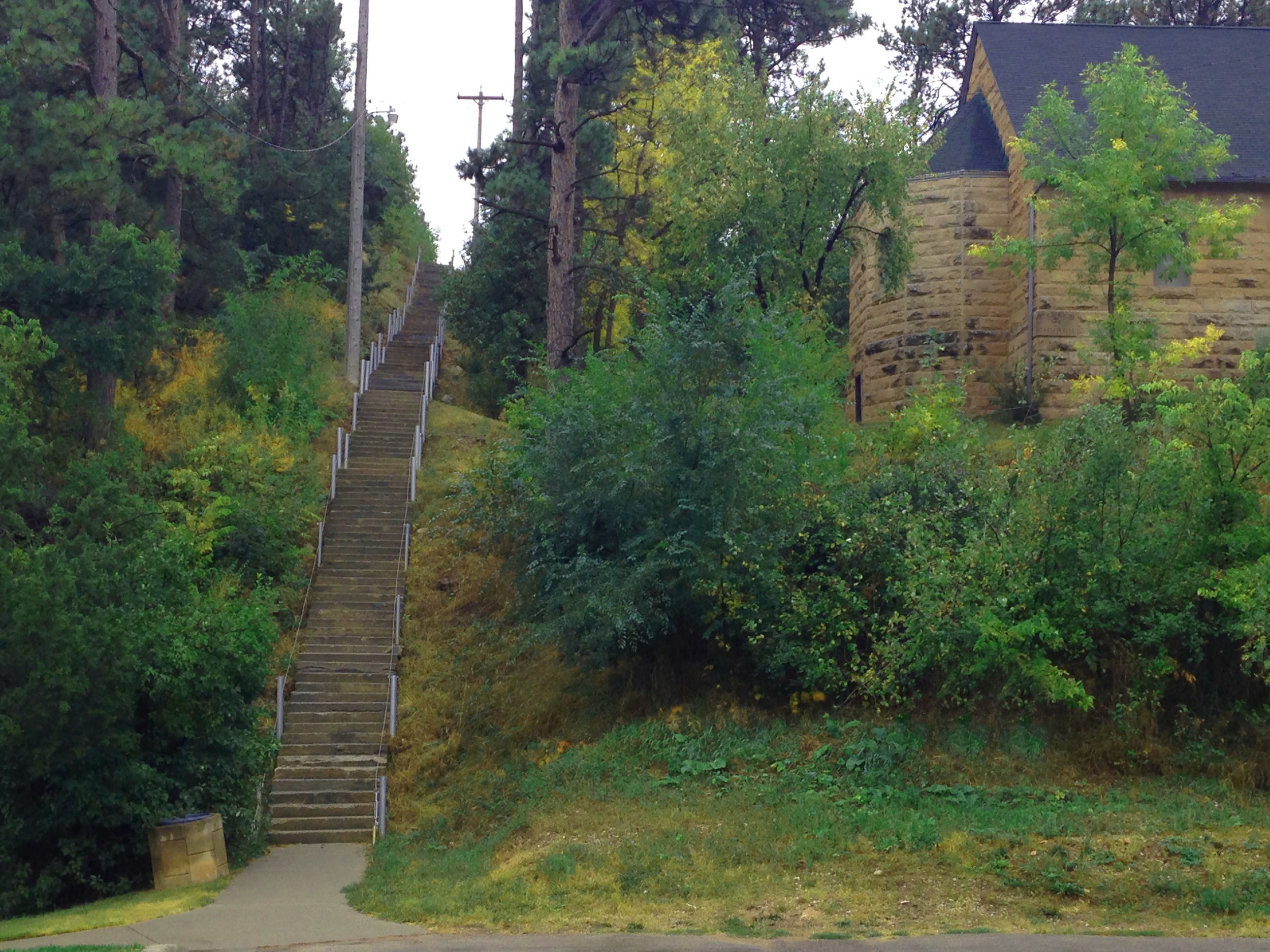 Outdoor Stair Climb Hot Springs. SD