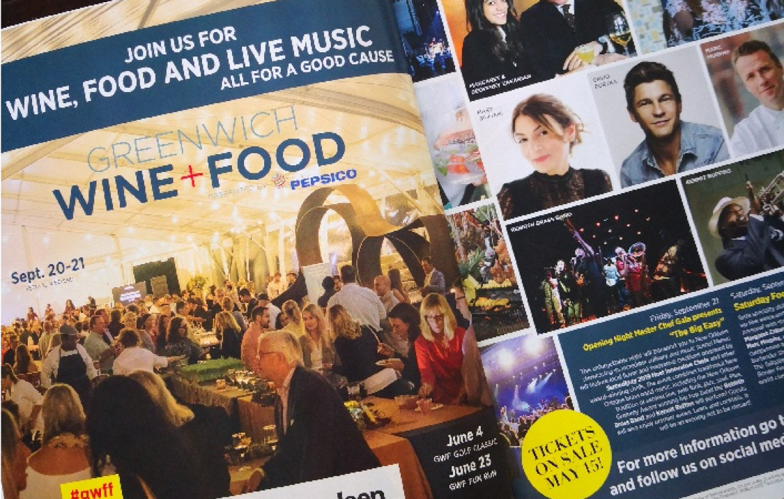 Lisa made the ad for Greenwich Wine+Food Festival!! ( :