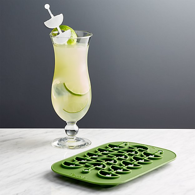 Crate and Barrel Lime Ice Cube Tray