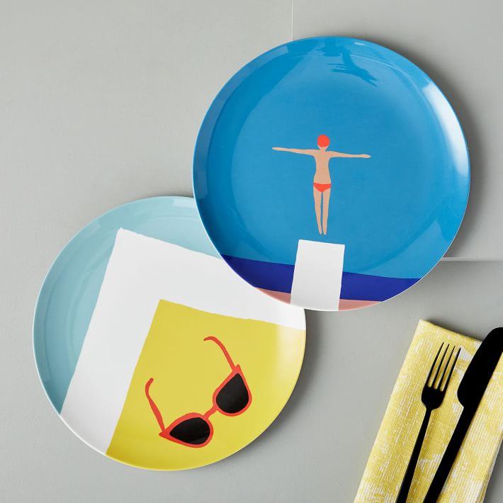 West Elm Summertime Melamine Plates