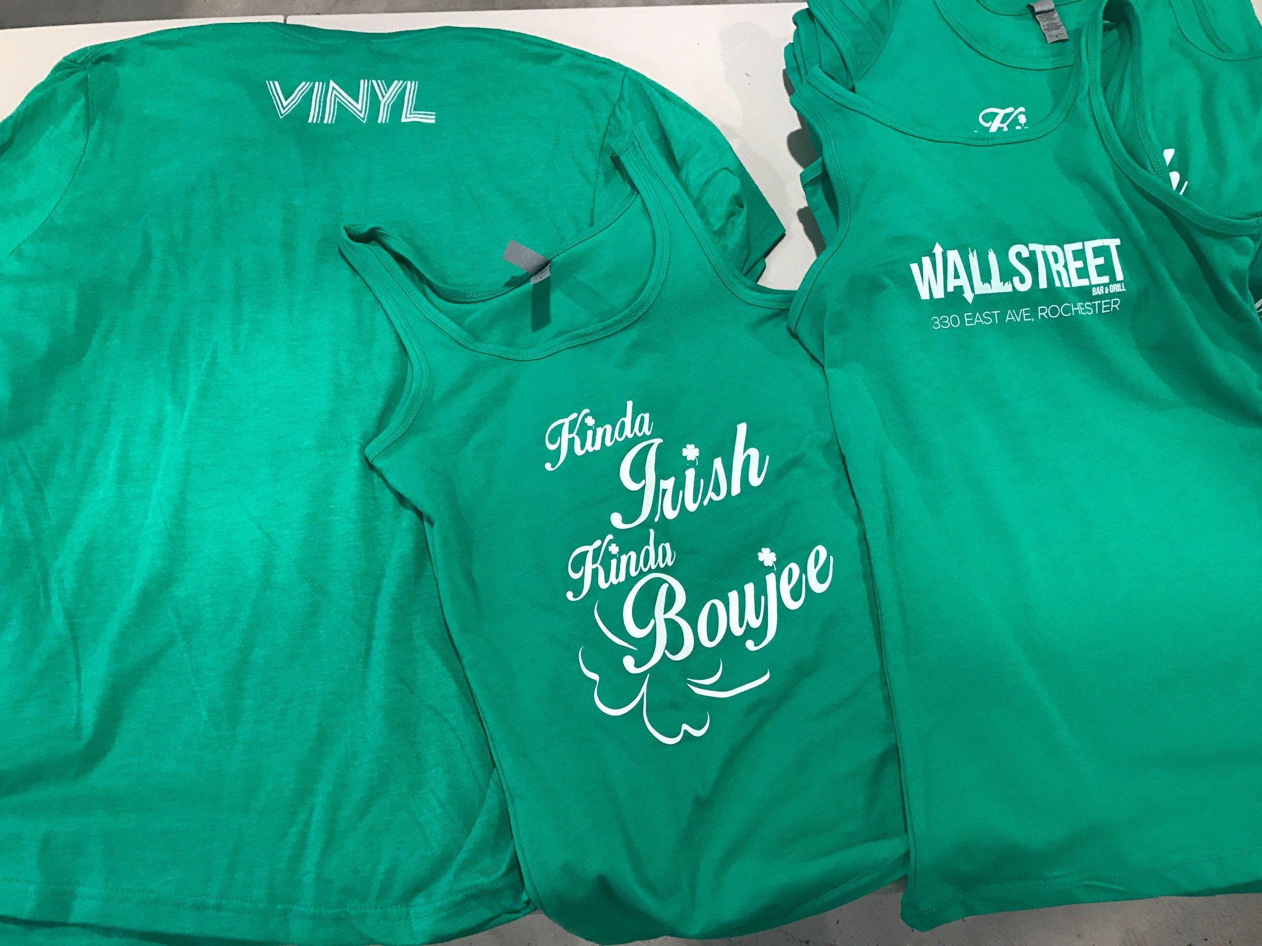 Custom Screen Printed Staff Shirts