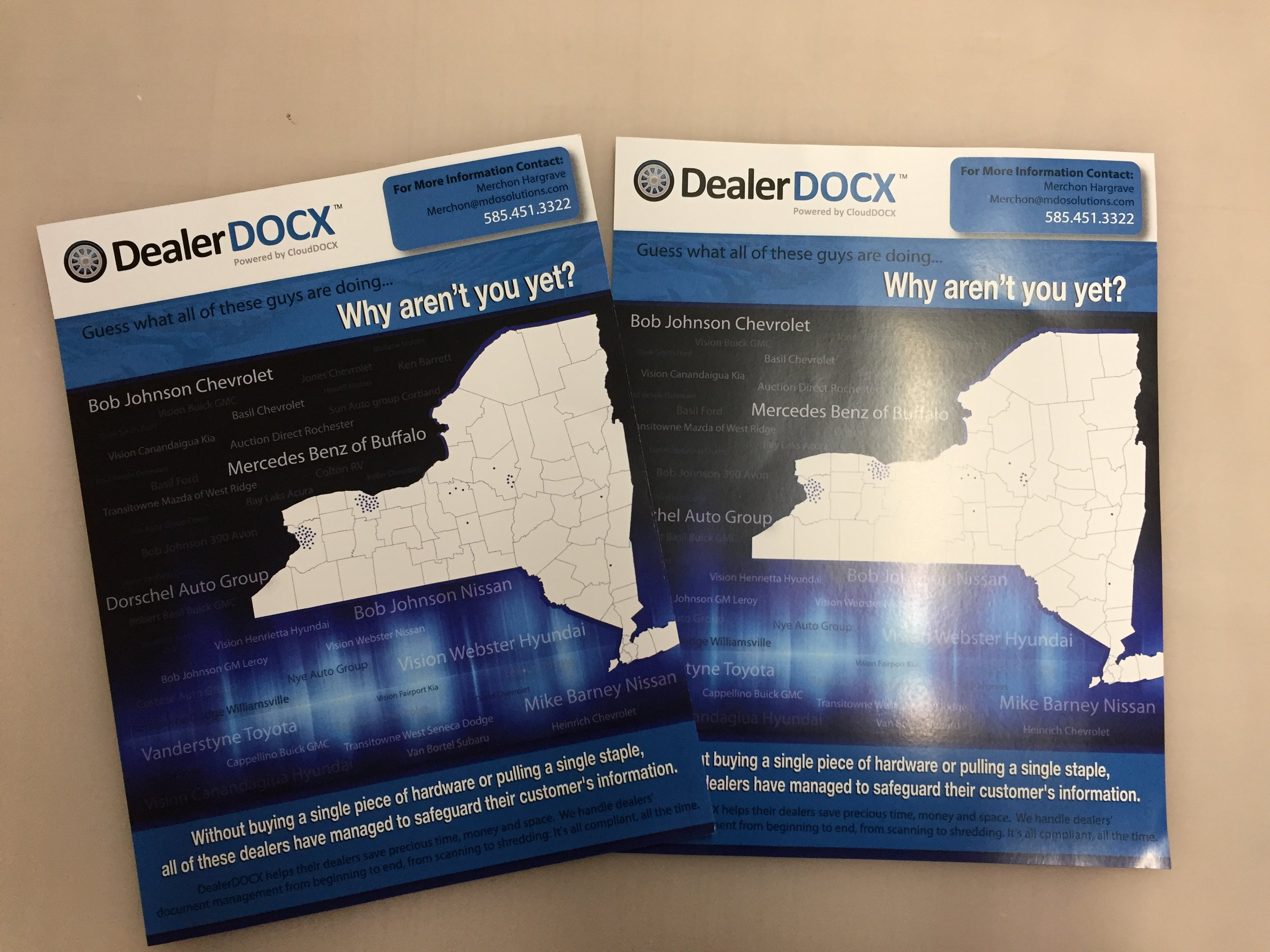 We designed and printed a one pager advertisement for a local business in Rochester NY!
