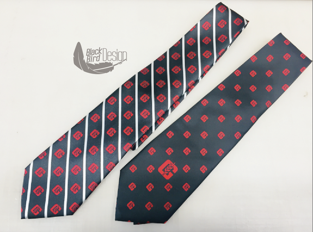 Check out these custom woven polyester neckties