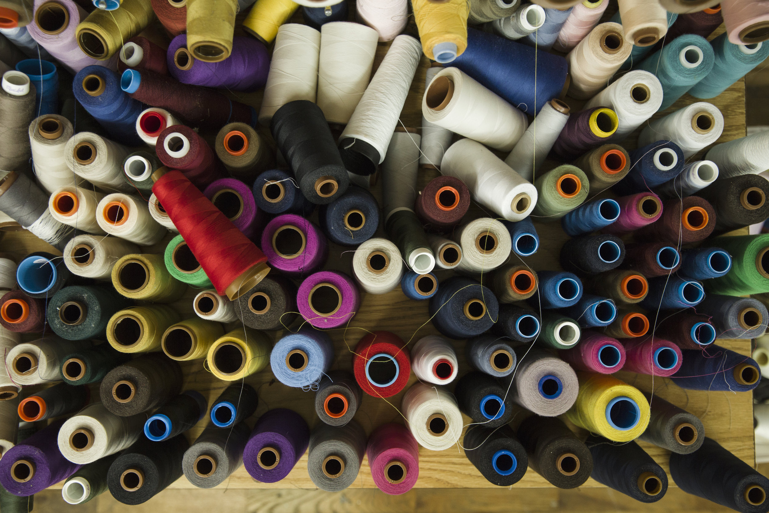 Colorful and vibrant cones of thread.jpg