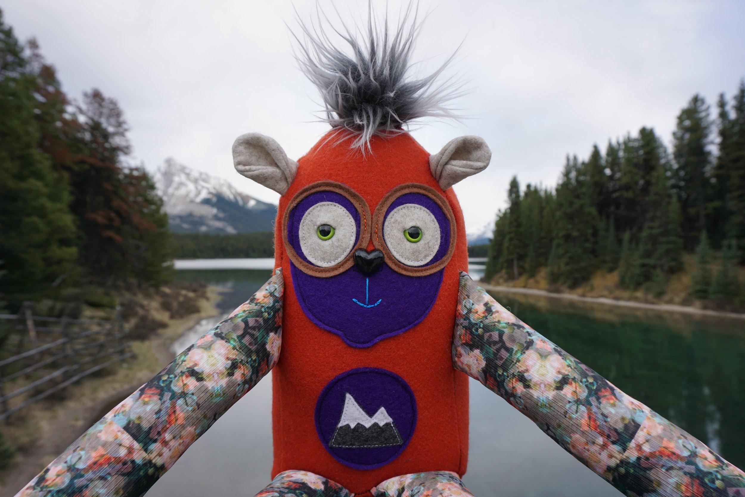 mountains & monsters, mountains and monsters, jasper, jasper alberta, jasper national park, designer toys, plushie
