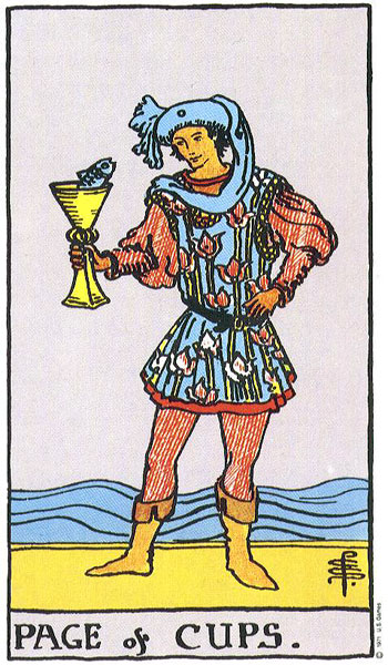 page of cups, tarot, rider waite, susan miller, astrology, horoscope, july astrology